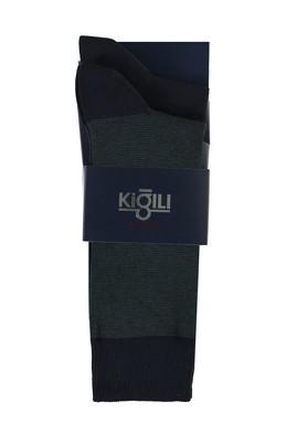 Erkek Giyim - NEFTİ 42-45 Beden 2'li Desenli Çorap