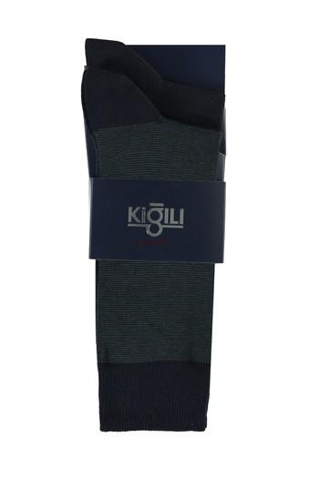 Erkek Giyim - 2'li Desenli Çorap