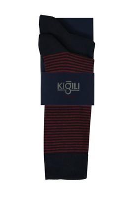 Erkek Giyim - KİREMİT 42-45 Beden 2'li Desenli Çorap