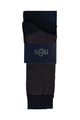Erkek Giyim - ORTA KAHVE 42-45 Beden 2'li Desenli Çorap