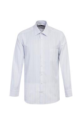 Erkek Giyim - UÇUK MAVİ L Beden Uzun Kol Çizgili Klasik Gömlek
