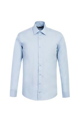 Erkek Giyim - UÇUK MAVİ L Beden Uzun Kol Slim Fit Gömlek