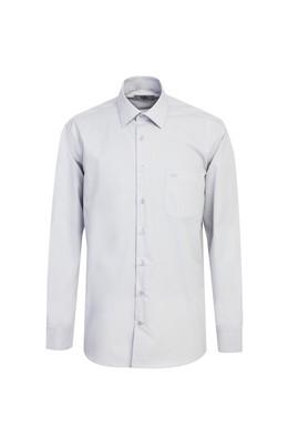 Erkek Giyim - ORTA GRİ 3X Beden Uzun Kol Klasik Gömlek