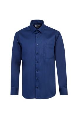 Erkek Giyim - ORTA LACİVERT XXL Beden Uzun Kol Non Iron Klasik Gömlek