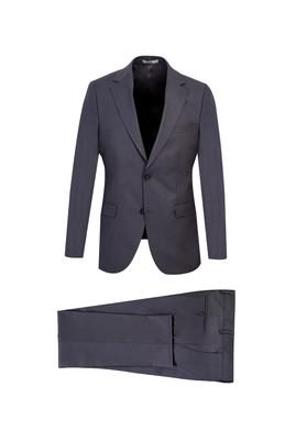 Erkek Giyim - AÇIK FÜME 56 Beden Slim Fit Takım Elbise