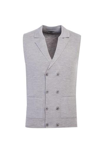 Erkek Giyim - Yünlü Slim Fit Yelek