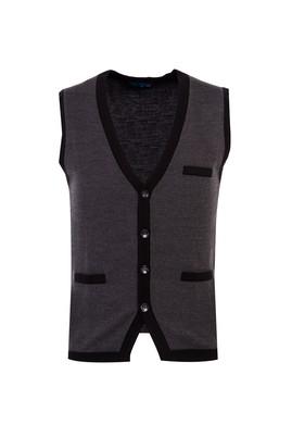 Erkek Giyim - SİYAH 3X Beden Düğmeli Yelek