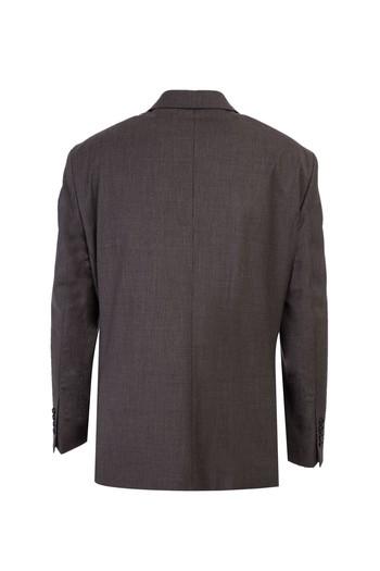 Erkek Giyim - Yünlü Kuşgözü Klasik Takım Elbise