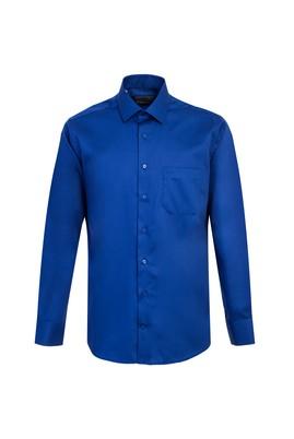Erkek Giyim - SAKS MAVİ 3X Beden Uzun Kol Non Iron Klasik Gömlek