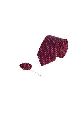 Erkek Giyim - BAYRAK KIRMIZI  Beden 2'li Kravat Yaka İğnesi Set