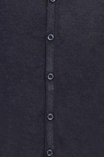 Erkek Giyim - Yünlü Düğmeli Triko Hırka