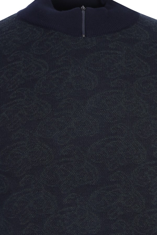 Bato Yaka Desenli Regular Fit Triko Kazak