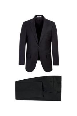 Erkek Giyim - SİYAH 52 Beden Yünlü Klasik Takım Elbise