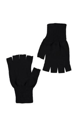 Erkek Giyim - SİYAH  Beden Parmaksız Eldiven