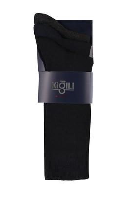Erkek Giyim - SİYAH 40-44 Beden 3'lü Düz Çorap