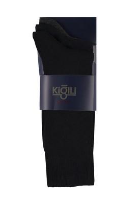 Erkek Giyim - SİYAH 40-44 Beden 3'lü Desenli Çorap