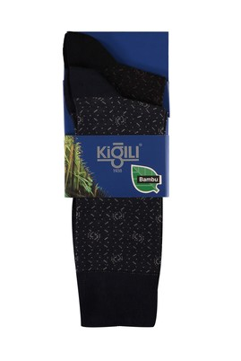 Erkek Giyim - SİYAH LACİVERT 42-45 Beden 2'li Bambu Çorap
