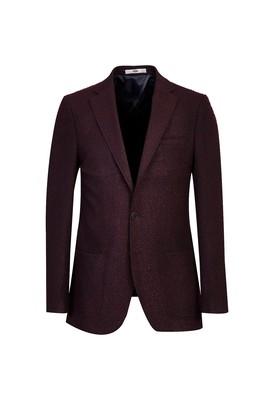 Erkek Giyim - AÇIK BORDO 48 Beden Klasik Kuşgözü Ceket