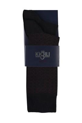Erkek Giyim - AÇIK BORDO 39-41 Beden 2'li Desenli Çorap