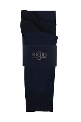 Erkek Giyim - SAKS MAVİ 42-45 Beden 2'li Desenli Çorap