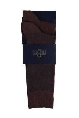 Erkek Giyim - ORTA KAHVE 39-41 Beden 2'li Desenli Çorap