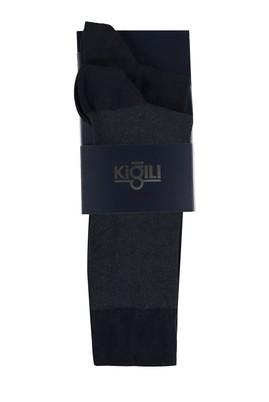 Erkek Giyim - ORTA FÜME 42-45 Beden 2'li Desenli Çorap