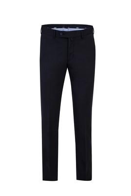 Erkek Giyim - SİYAH LACİVERT 58 Beden Slim Fit Yünlü Klasik Pantolon