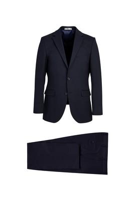 Erkek Giyim - KOYU LACİVERT 48 Beden Klasik Takım Elbise