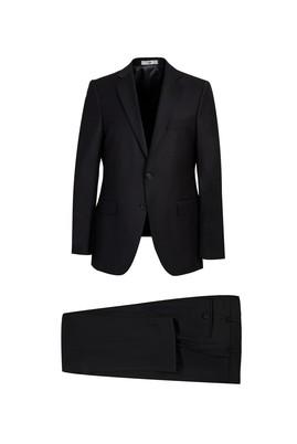 Erkek Giyim - Siyah 56 Beden Yünlü Klasik Takım Elbise
