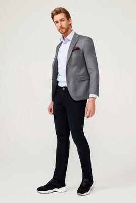 Erkek Giyim - ORTA GRİ 54 Beden Slim Fit Balık Sırtı Ceket