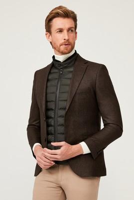 Erkek Giyim - ORTA KAHVE 50 Beden Klasik Ceket