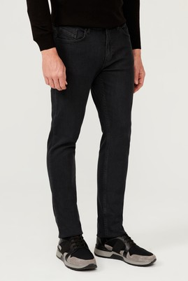 Erkek Giyim - KOYU FÜME 48 Beden Slim Fit Denim Pantolon