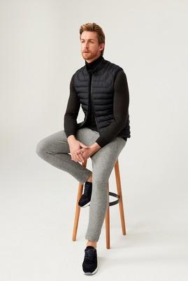 Erkek Giyim - ORTA GRİ S Beden Slim Fit Jogger Pantolon