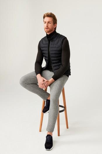 Erkek Giyim - Slim Fit Beli Lastikli İpli Jogger Pantolon