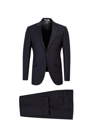 Erkek Giyim - Slim Fit Yünlü Takım Elbise