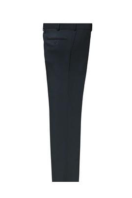Erkek Giyim - KOYU LACİVERT 56 Beden Yünlü Slim Fit Klasik Pantolon