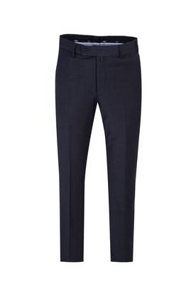 Erkek Giyim - KOYU FÜME 54 Beden Yünlü Klasik Pantolon