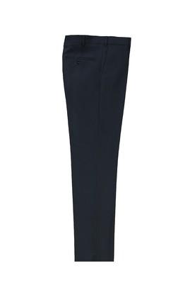 Erkek Giyim - KOYU LACİVERT 46 Beden Slim Fit Yünlü Klasik Pantolon