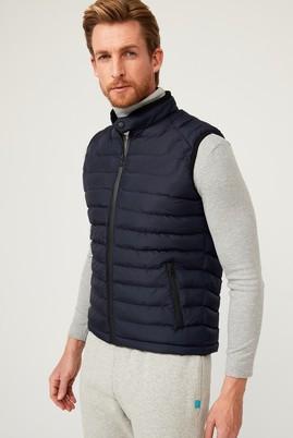 Erkek Giyim - Orta füme L Beden Balıkçı Yaka Slim Fit Sweatshirt