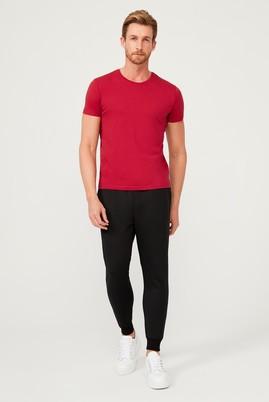 Erkek Giyim - Siyah 3X Beden Slim Fit Scuba Jogger Pantolon / Eşofman