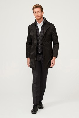 Erkek Giyim - Siyah 48 Beden Spor Kaban