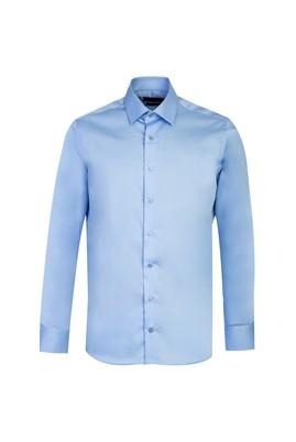 Erkek Giyim - AÇIK MAVİ S Beden Uzun Kol Non Iron Slim Fit Gömlek