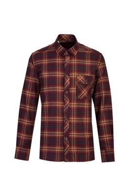 Erkek Giyim - ORTA HAKİ 3X Beden Uzun Kol Ekose Oduncu Gömlek