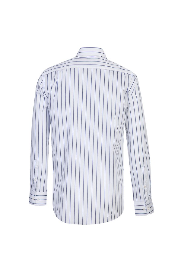 Uzun Kol Regular Fit Çizgili Gömlek