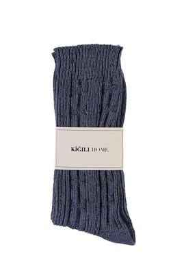 Erkek Giyim - İNDİGO 40-44 Beden Desenli Triko Çorap