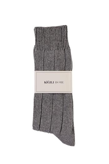 Erkek Giyim - Yünlü Desenli Çorap