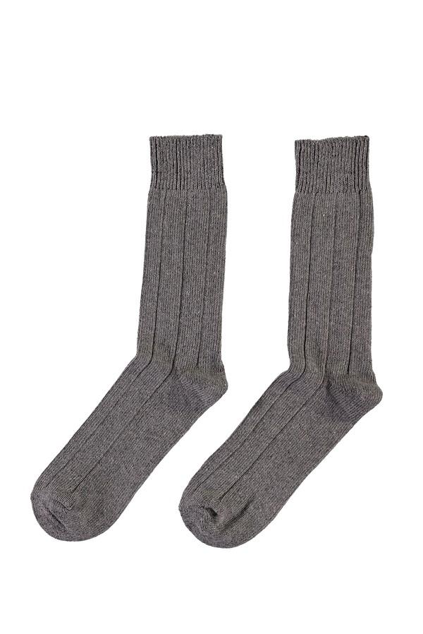 Yünlü Desenli Çorap