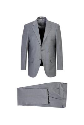 Erkek Giyim - Açık Gri 66 Beden Yünlü Klasik Takım Elbise