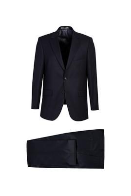 Erkek Giyim - SİYAH LACİVERT 56 Beden Kuşgözü Klasik Takım Elbise