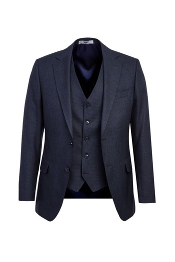 Erkek Giyim - Yelekli Kombinli Klasik Takım Elbise